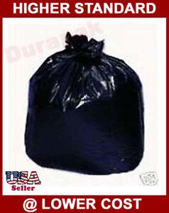 80~55 Gallon Black LDPE 1.25 mil 36x58'' Trash Can Liner Bags Waste Disposal Bag