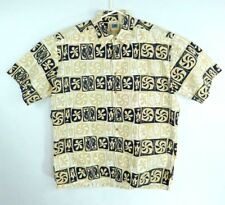 Kahala AVi Collection Men's Large Handcrafted in Hawaii 100% Cotton Tan/Black