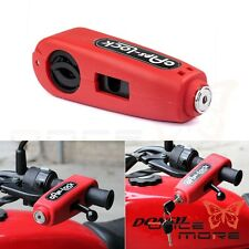 Red Grip Brake Lever Handlebar Anti Theft Security Lock Motorcycle Bike Scooter