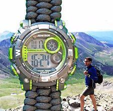 NEW! Armitron Watch w/ Handmade Paracord 550 Watch Band 40/8284LGN