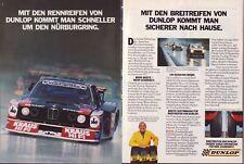 BMW Motorsport - 3er - Dunlop - alte  Annonce - historische  Reklame - advert