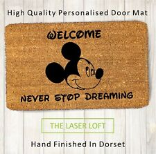 Disney Mickey Moise Welcome Novelty Funny Coir Door Mat 40cm x 60cm Personalised