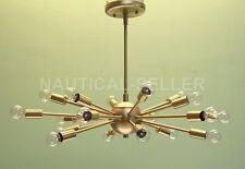 Brushed Brass 18 Lights Mid-century Sputnik Chandelier Light Fixture Home Decor