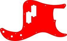 Pickguard Scratchplate Pick Guard Fender Precision P Bass Guitar Red Acylic
