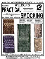 Weldon's 2D #29 c.1887 Practical Smocking (2nd Series) Vintage Instructions