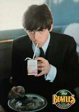 Paul McCartney Drinking Milk on Train, February 11, 1964 -- Beatles Trading Card