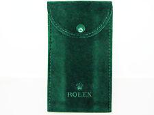 Brand New Genuine Rolex Dark Green Velvet Watch (Timepiece) Storage Pouch Bag