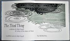 The Third Thing: Poetry and Images on the Theme of Water, Kiggell, Ralph, New, L