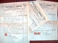 1930 152) MODENA FATTURE RIPARAZIONI AUTOMOBILE FIAT 509 DITTA 'PRATELLA PRIMO'