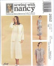 UNCUT McCalls Sewing Pattern Misses Dress Unlined Jacket 2652 Small Nancy Zieman