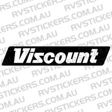 VISCOUNT SUPREME BLACK LOGO Caravan decal, sticker, vintage, graphics