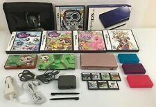Nintendo DS Lite USG-001 Metallic Pink Bundle Lot 12 Video Games & Accessories