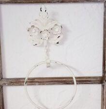 Handtuchhalter Halter Bad Ring Rose Antik weiss Shabby chic Vintage Landhaus