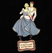 Disney Pin - Cinderella and Prince A Dream is a Wish Princess Dangle Series Dlr