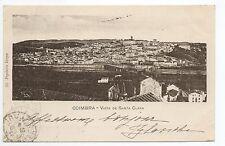 PORTUGAL COIMBRA Vista de santa clara sur carte 1900