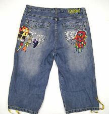 Miskeen baggy loose jeans hip hop size 40 skater urban long shorts Robot Alien
