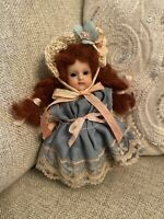 """Darling 5"""" Artist Made Reproduction All Bisque Doll Looks Antique Red Hair"""