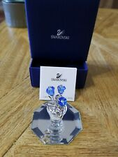Swarovski Crystal Figurines Forget Me Not Blue Flowers Rare Mint With Coa