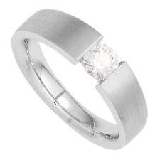Ringe mit Edelsteinen aus Weißgold mit Diamant-Sets (16,5 mm) Ø 52