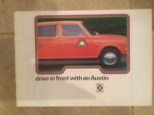 Austin mini 850 1000 Clubman 1275GT  Allegro Maxi brochure in VGC