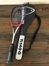 Head Titanium Squash Racquet Ti. 140G Power Zone with Case Racket