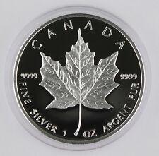 Canada 1989 $5 1 Oz Maple 9999 Silver Proof Coin GEM