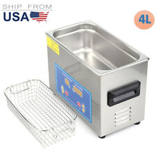 45l Digital Ultrasonic Cleaner Commercial Jewelry Glasses With Heater Timer Ft