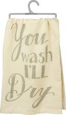 "New!~""You wash I'Ll Dry""~Tea Towel 28""~Hand/Kitchen/Dis h/Cotton/Farmhouse/Farm"