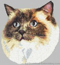 Embroidered Ladies Short-Sleeved T-Shirt - Ragdoll Cat Dle2633