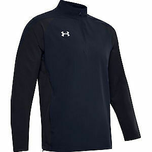 Under Armour Mens Squad Long Sleeve Coach'S 1/4 Zip Pullover NAVY 2XL