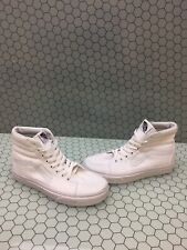 VANS Sk8 Hi Classic All White Canvas Lace Up Skate Shoes Mens Size 4.5  Womens 6