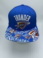 Adidas OKC Oklahoma City Thunder NBA Adult Snapback Adjustable Cap/Hat Blue NWT