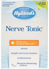 HYLAND'S NERVE TONIC STRESS RELIEF 50 QUICK DISSOLVING TABLETS HOMEOPATHIC