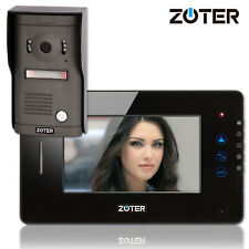 """ZOTER 7"""" LCD Color Touch Key House Video Door Phone Gate Intercom Access Control"""