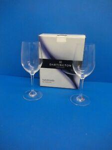 BOX OF 2 DARTINGTON CRYSTAL HANDMADE WINE GLASSES