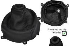 BLACK STITCH LEATHER SHIFT BOOT + PLASTIC FRAME FITS HONDA CIVIC SI 2006-2012