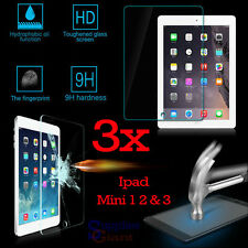 3 x 9H Premium Tempered Glass Film Screen Protector Apple iPad Mini 1 2 3 HQ Lot