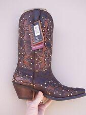Ariat Dandy Cowboy Boots Sassy Brown 10007964 W/ BLING Swarovski Crystals sz 6 B