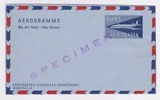 Australia Ohms Specimen Air Letter Aerogram