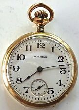 Antique Waltham 15j Gold Filled Pocket Watch Philadelphia 20 Yr Case