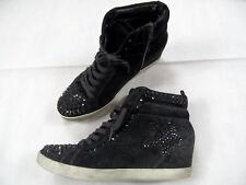 KENNEL&SCHMENGER Keilabsatz Sneakers schwarz Swarovski schwarz Gr.40,5 TOP SJ718