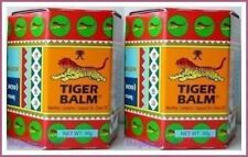 2 x TIGER BALM RED HERBAL RUB MUSCLES PAIN RELIEF HEADACHE 30 g.(BIG JAR)