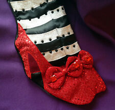 WIZARD OF OZ™ WICKED WITCH Christmas Stocking RUBY SLIPPERS #7141 SPARKLES!!