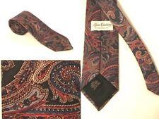 """Vintage Akers Clothiers Evans England Tie Men's Navy Foulard 100% Silk 58"""""""