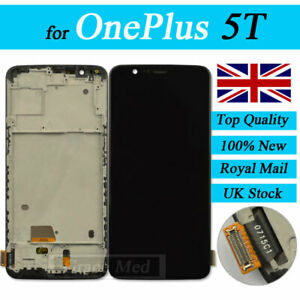 Black LCD Touch Screen Digitizer Assembly+Frame Replacement Parts For Oneplus 5T