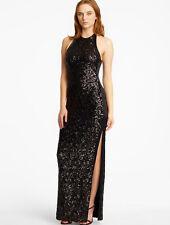 Halston Heritage Sequin Halter Gown BLACK Size 10 #20