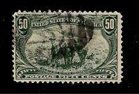 U.S.1898 Sc# 291 50 c Trans Mississippi  USED - Light Cancel -  Crisp Color