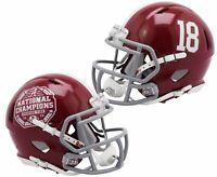 Alabama Crimson Tide CFP 2020 National Champions Speed Mini Football Helmet #18