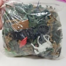 Bag Lot Army Men Accessories Green Brown Guns Soldiers Nets Etc Toy Party Favors
