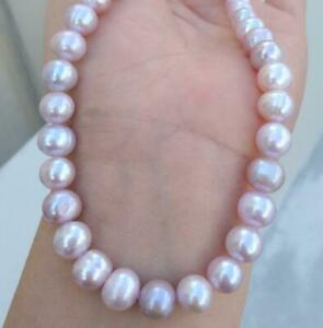 """Natural 20"""" AAAA 9-10mm South Sea Lavender Pearl Necklace14k Yellow Gold Clasp"""